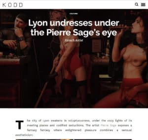 Pierre Sage Lyon Night Call magazine Kodd Editorial